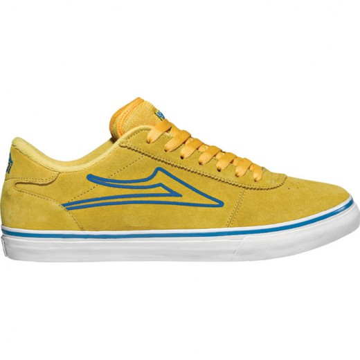 LAKAI LIMITED FOOTWEAR MANCHESTER SELECT Yellow/Blue Suede 01