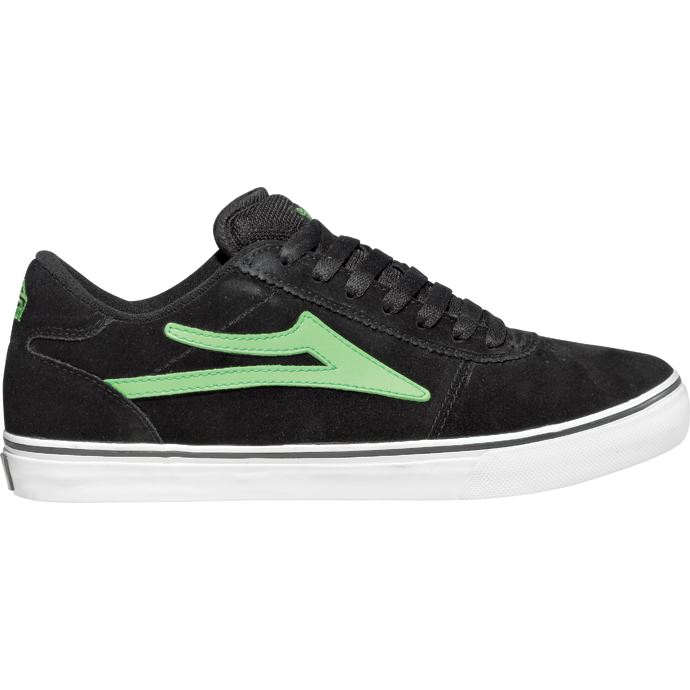 LAKAI LIMITED FOOTWEAR MANCHESTER SELECT Black/Lime Suede 01