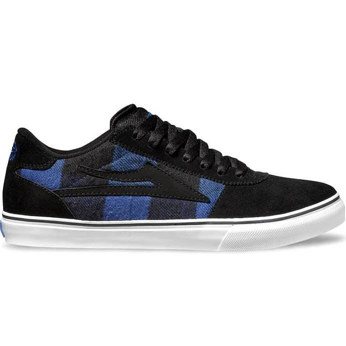 LAKAI LIMITED FOOTWEAR MANCHESTER SELECT Black/Blue Flannel 01