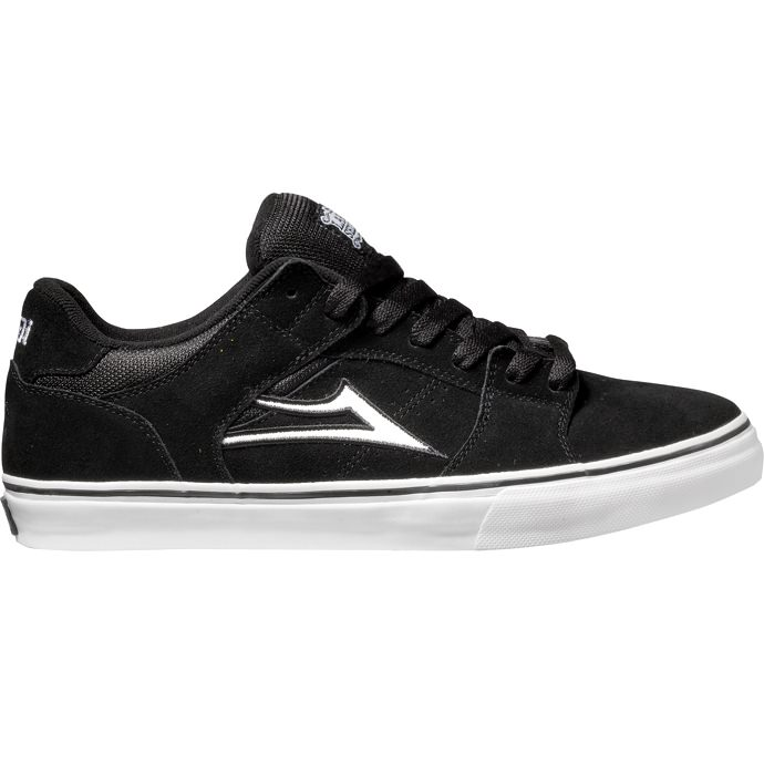 LAKAI LIMITED FOOTWEAR CARROLL SELECT LO Black/White Suede 01