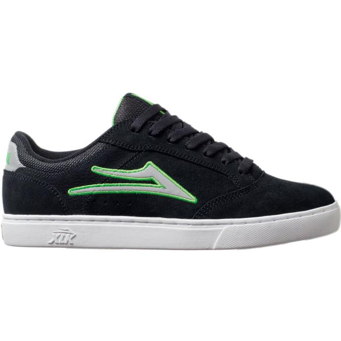 LAKAI LIMITED FOOTWEAR MIKE MO Black/Lime Suede 01