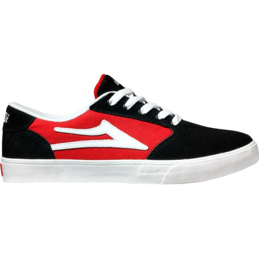 LAKAI LIMITED FOOTWEAR PICO Black/Red Suede 01