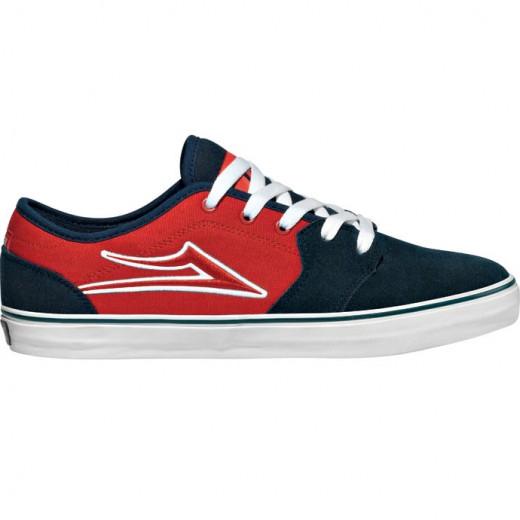 LAKAI LIMITED FOOTWEAR JUDO JUDO Navy/Red Canvas 01