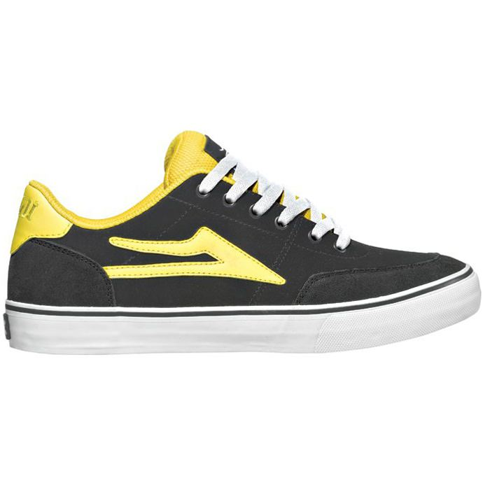 LAKAI ENCINO Grey/Yellow Suede 01