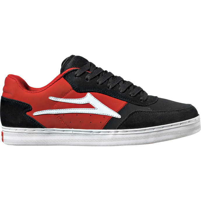 LAKAI MJ5 Black/Red Suede Chocolate 01
