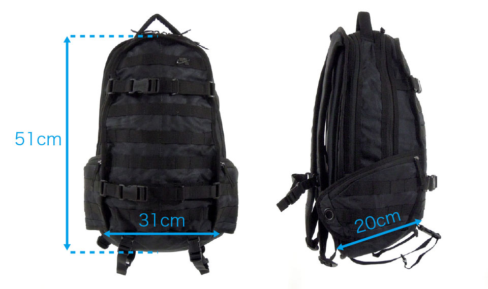 NIKE SB RPM Backpack ナイキ スケートボード スケボー バッグ デッキ取り付け バックパック サイズ