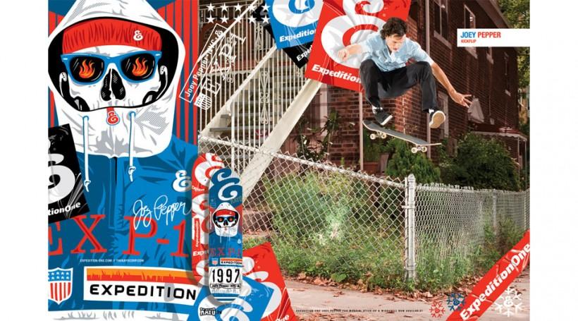 EXPEDITION ONE エクスペディションワン スケボー 通販 スケートボード デッキ ブランド Joey Pepper ジョイ・ペッパー