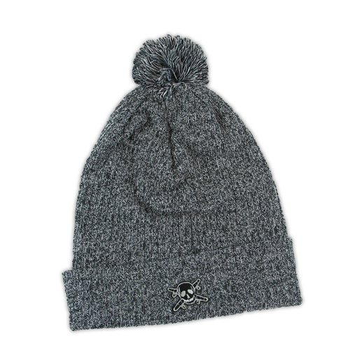 Fourstar フォースター キャップ ビーニー 通販 スケボー スケートボード 通販 PIRATE POM POM BEANIE Charcoal