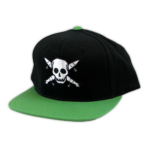Fourstar フォースター 通販 キャップ スケボー スケートボード STREET PIRATE SNAPBACK CAP Black