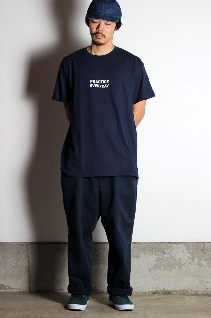 Hi5 オリジナル Tシャツ PRACTICE EVERYDAY ネイビー