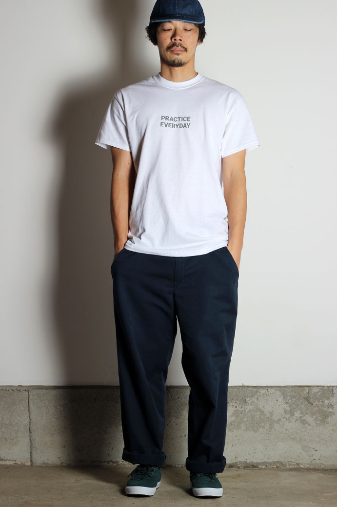 Hi5 オリジナル Tシャツ PRACTICE EVERYDAY ホワイト