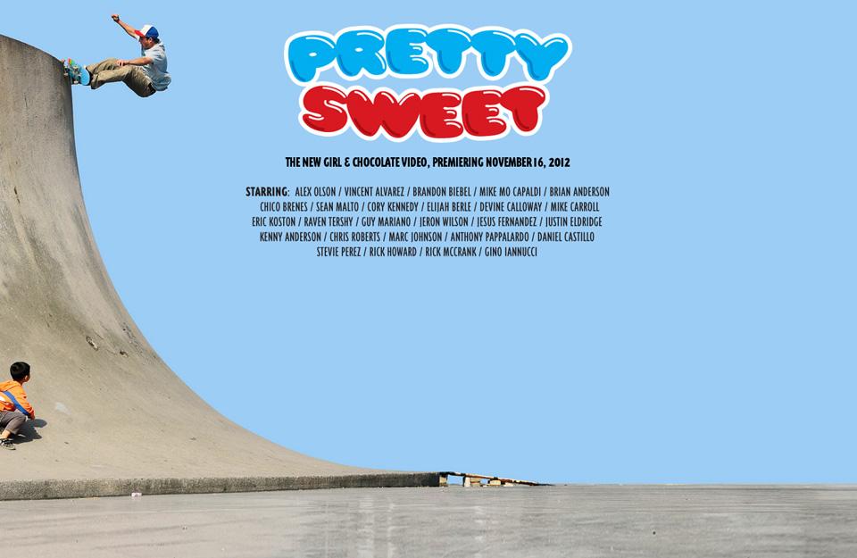 GIRL Chocolate スケボー スケートボード 新作 DVD PRETTY SWEET プリティスイート