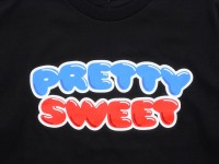 GIRL&Chocolate PRETTY SWEET DVD Tシャツ ブラック ロゴ