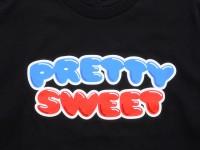 GIRL&Chocolate PRETTY SWEET DVD Tシャツ ブラック ロゴ