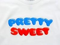 GIRL&Chocolate PRETTY SWEET DVD Tシャツ ホワイト ロゴ