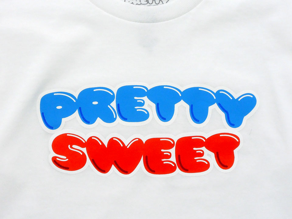 GIRL&Chocolate PRETTY SWEET DVD Tシャツ ホワイト ロゴ