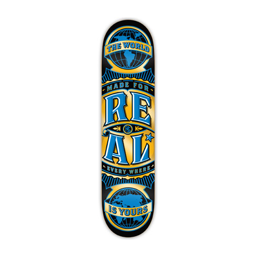 REAL SKATEBOARDS リアル スケートボード スケボー 通販 デッキ WORLD WIDE Large