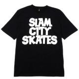 Slam City Skates スラムシティスケーツ ロンドン クラシック ロゴ Tシャツ 通販 Classic Logo T-Shirt Black 全体