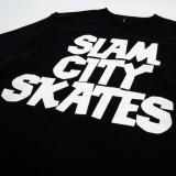 Slam City Skates スラムシティスケーツ ロンドン クラシック ロゴ Tシャツ 通販 Classic Logo T-Shirt Black フロントプリント