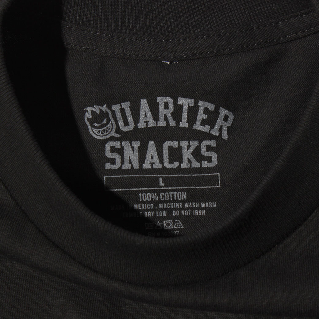 SPITFIRE QUARTER SNACKS Tシャツ ブラック
