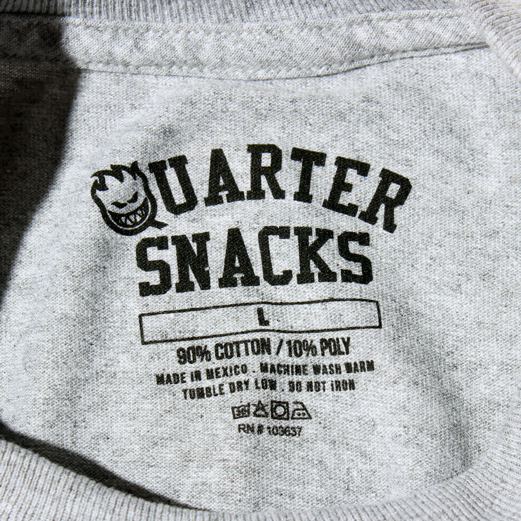 SPITFIRE QUARTER SNACKS Tシャツ ヘザーグレー