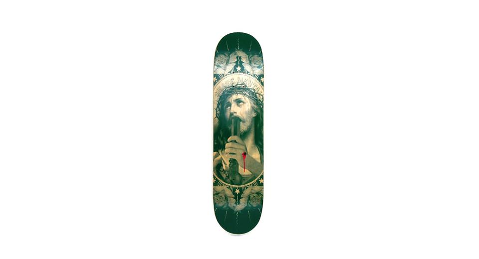 スケボー 通販 スケートボード デッキ SKATE MENTAL OH MY LORD スケートメンタル キリスト
