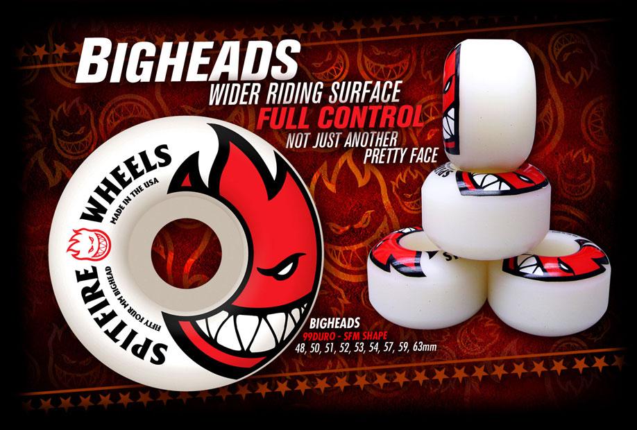 SPITFIRE WHEELS スケボー スケートボード ウィール BIGHEAD AD