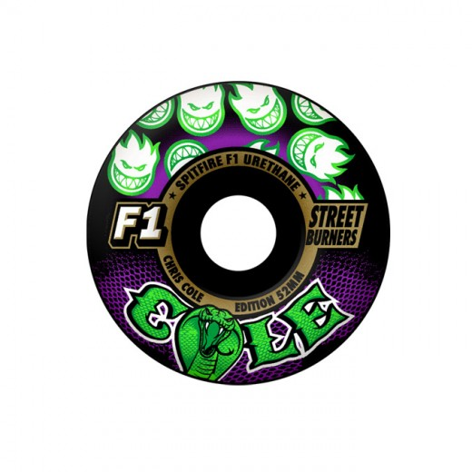 SPITFIRE WHEELS スケボー スケートボード ウィール F1 STREET BURNERS Cole COBRA Black 52mm