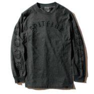SPITFIRE OLD E L/S Tシャツ チャコールグレー