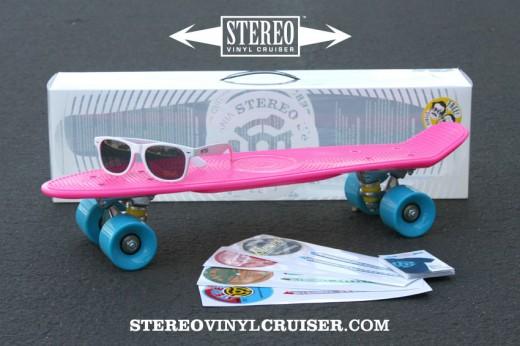 STEREO Vinyl Cruiser PINK ステレオ プラスチック デッキ スケボー スケートボード 通販