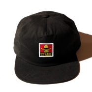 TIRED COWBAY LABEL HAT ブラック