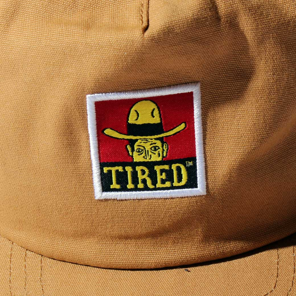 TIRED COWBAY LABEL HAT ダック