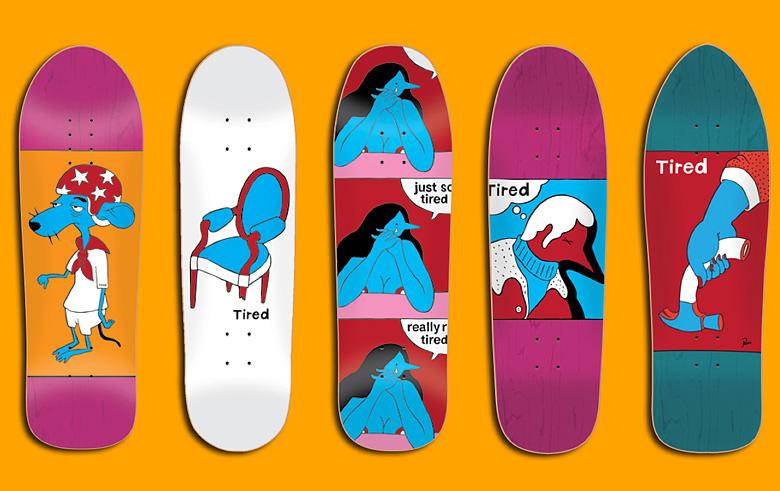 tired skateboards タイレッド スケートボード デッキ