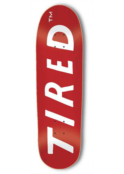 TIRED UPPERCASE LOGO4 8.5インチ