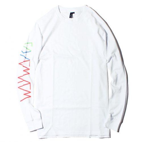 WAYWARD WHEELS DRIFTERR L/S Tシャツ ホワイト